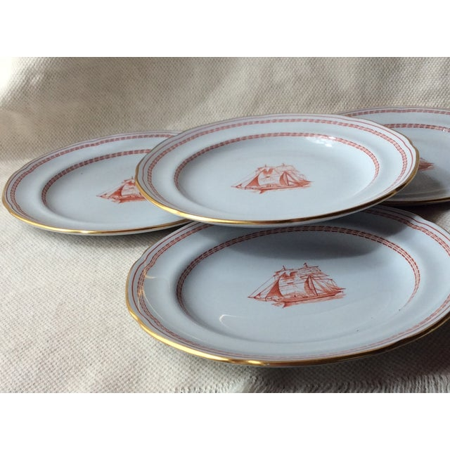 Shabby Chic Spode TradeWinds Pattern Coffee Cups, Saucers and Plates - Set of 12 For Sale - Image 3 of 11