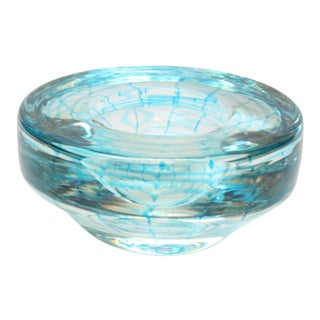 Vintage Murano Art Glass Ashtray / Decorative Bowl For Sale