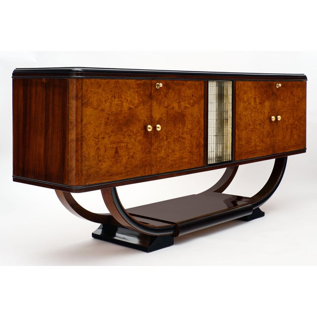 1940s Vintage Burled Buffet For Sale - Image 9 of 10