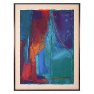 """Abstract Painting, """"Stage Fright"""" by Roberta Marks For Sale"""