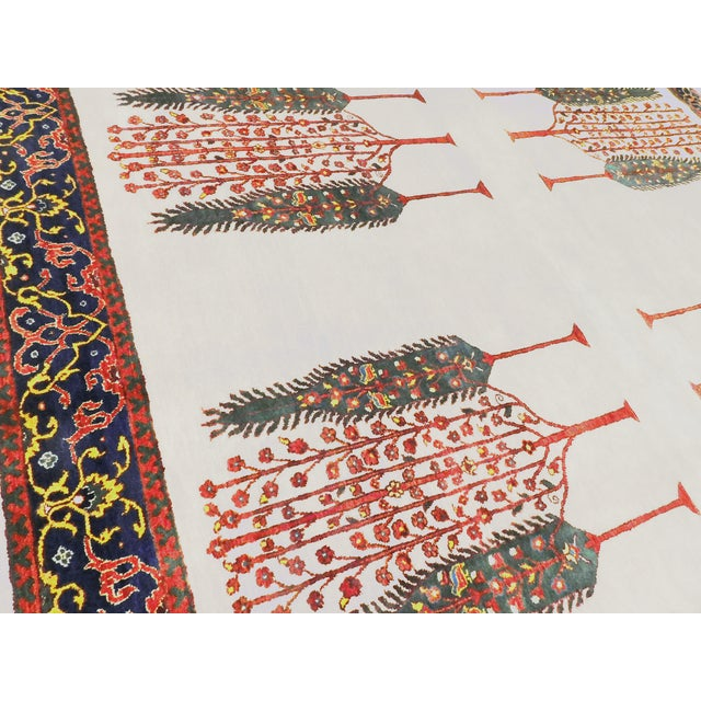 """2010s Indian Hand-Knotted Rug With Tribal Design - 6'6""""x 7'9"""" For Sale - Image 5 of 8"""