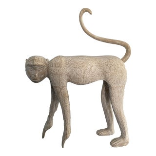 Large Modernist Monkey Sculpture, Manner of Lalanne For Sale