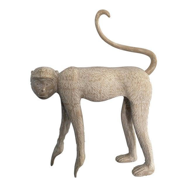 Large Modernist Monkey Sculpture, Manner of Lalanne For Sale