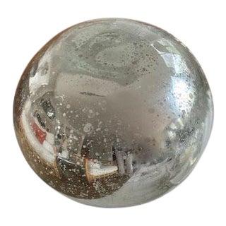 Antique Mercury Glass Garden Gazing Ball - 10in For Sale