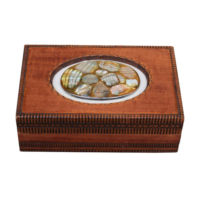 Abalone English Trinket Box by Cash's of Coventry For Sale - Image 7 of 7