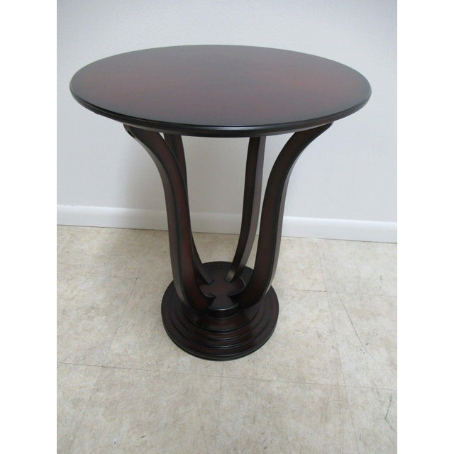 Cherry Wood Bombay Company Cherry Bird Cage End Table For Sale - Image 7 of 11