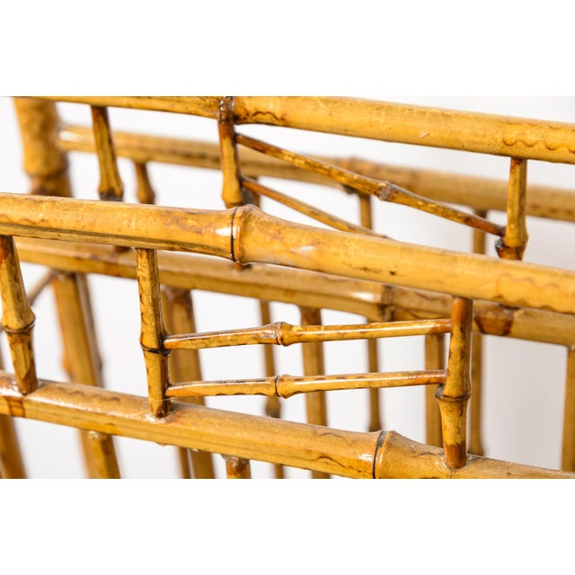 Antique English Root Bamboo Magazine Holder, 1900s For Sale In West Palm - Image 6 of 10