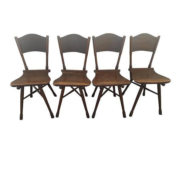 Antique Thonet Garden Chairs - Set of 4 For Sale - Image 10 of 10