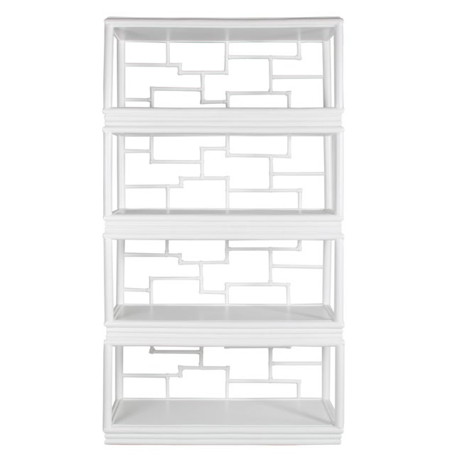 Wood Tibet Etagere - White For Sale - Image 7 of 10