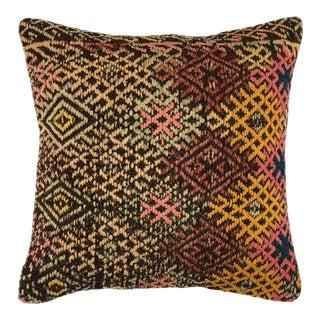 "Rich Rustic Kilim Pillow | 20"" For Sale"