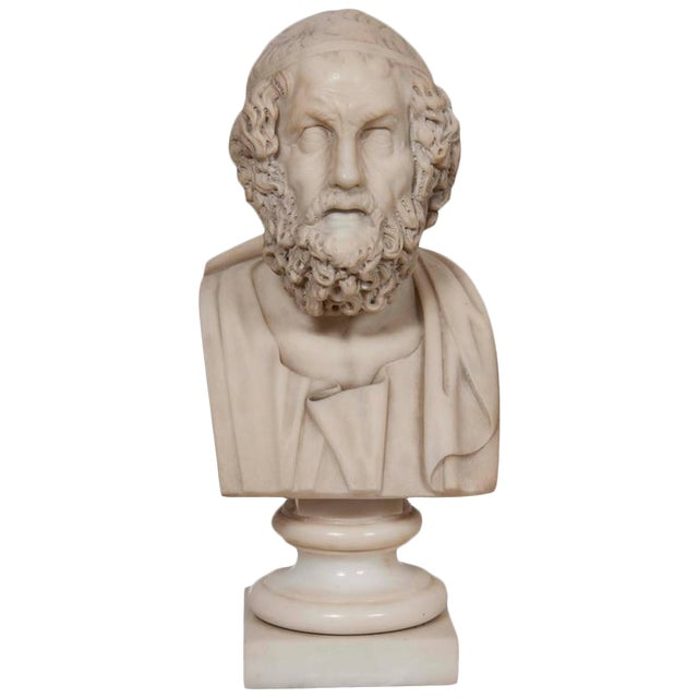 Marble Bust of Homer For Sale