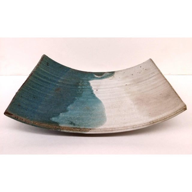 Abstract Mid-Century Artisan Ceramic Sushi Tray For Sale - Image 3 of 10
