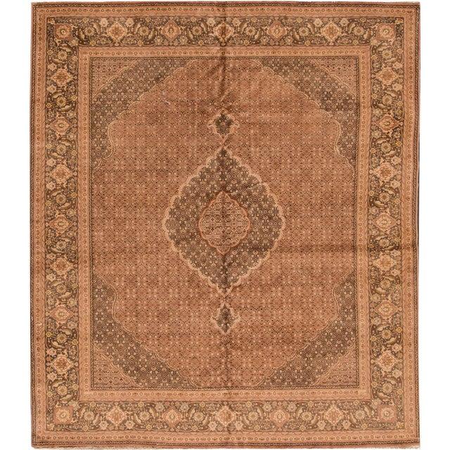 "Apadana Vintage Persian Tabriz Rug - 6'8"" x 7'9"" For Sale"