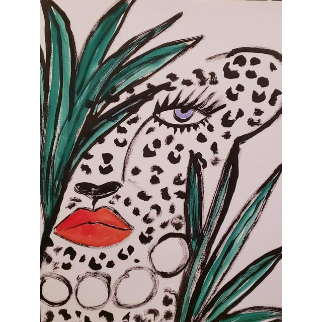 Illustration Cheetah Among Leaves Drawing *Price Is Firm* For Sale - Image 3 of 3
