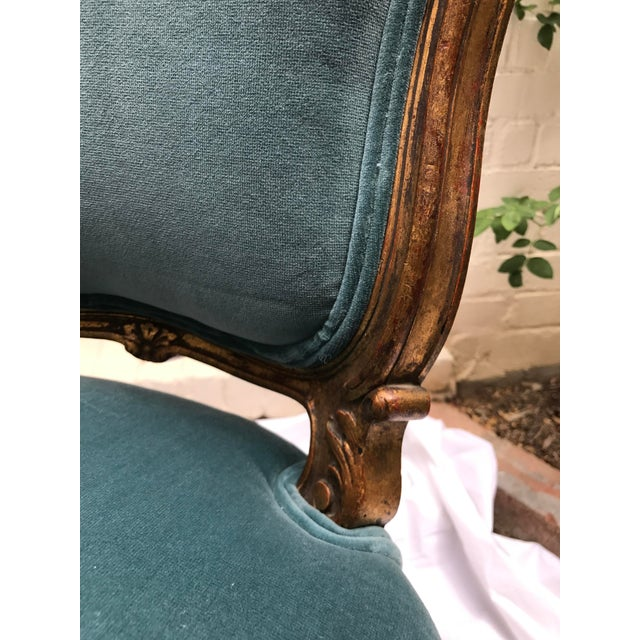 Antique Gilt Ballroom Chair For Sale - Image 5 of 11