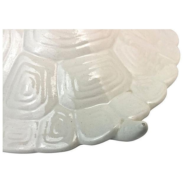 Hand-Cast Ceramic Turtle Bowl With Shell Lid - Image 9 of 9
