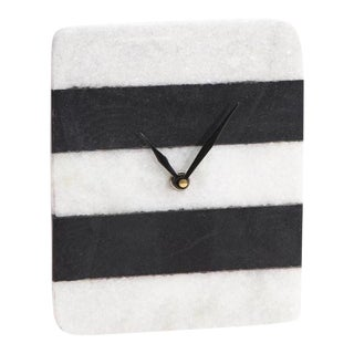 Marble Color Blocked Clock