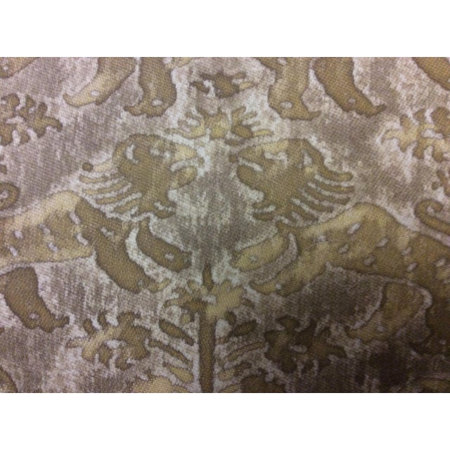Cottage Antique Fortuny Fabric Hall Chairs - a Pair For Sale - Image 3 of 11