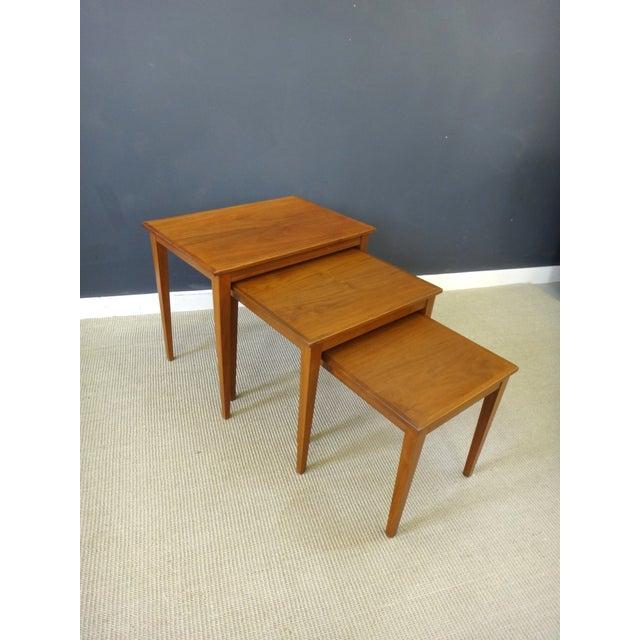 Danish Modern Teak Nesting Tables - Image 2 of 6