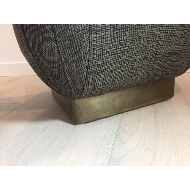 Pouf-Style Brown Ottomans - A Pair - Image 5 of 7