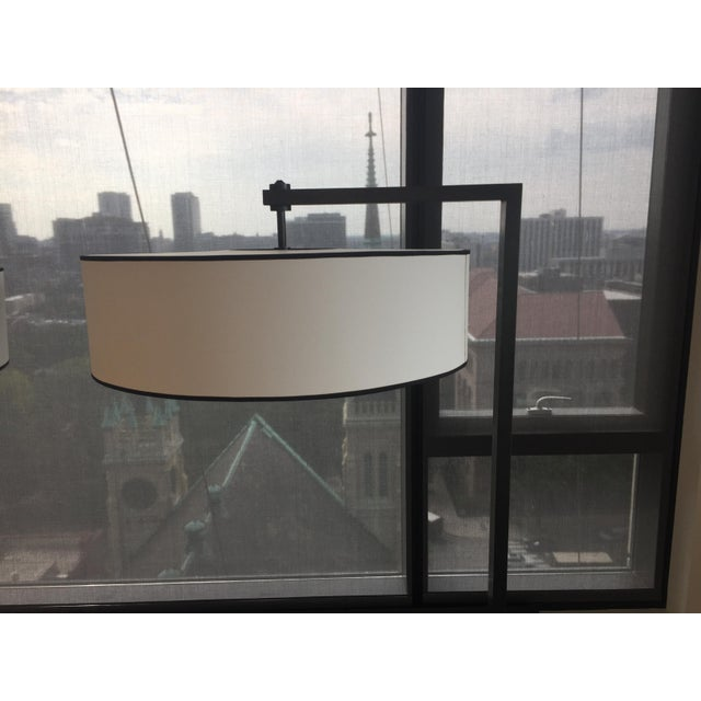 Contemporary Metal Silk Shade Floor Lamp 2 Available For Sale - Image 4 of 11
