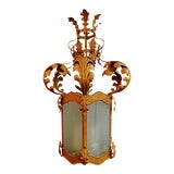 Image of Italian Wrought Iron Lantern For Sale