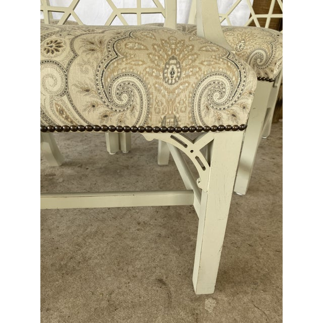 Clive Daniel Fretwork Chairs - Set of 3 For Sale - Image 6 of 13