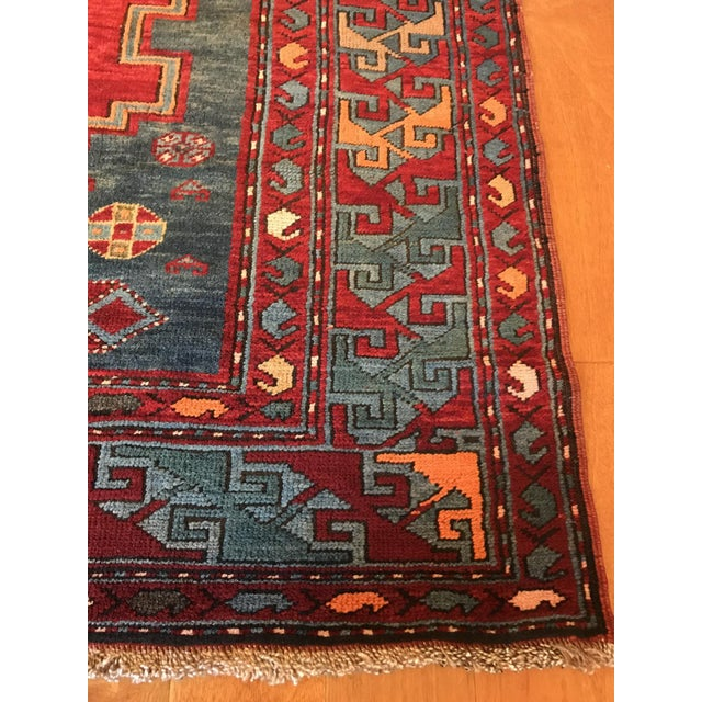 Antique Turkish Kazak Rug - 5′7″ × 8′1″ For Sale - Image 4 of 9
