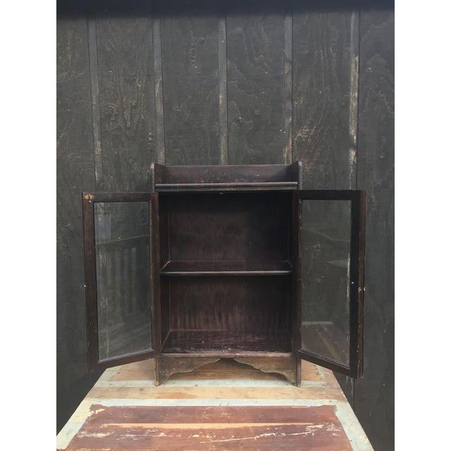 Distressed Wooden Bookcase For Sale - Image 6 of 11