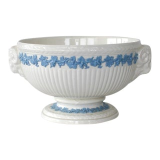Wedgwood Queen's Ware Pedestal Ram's Head Serving Bowl For Sale