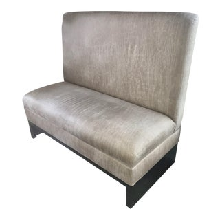 Contemporary Custom Beige Upholstered Banquette Bench