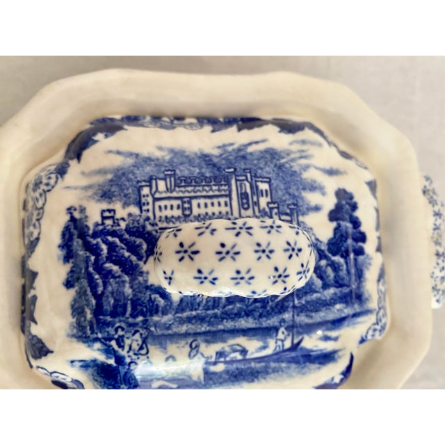 Early 20th Century Vintage Blue and White Gravy Boat For Sale - Image 5 of 13