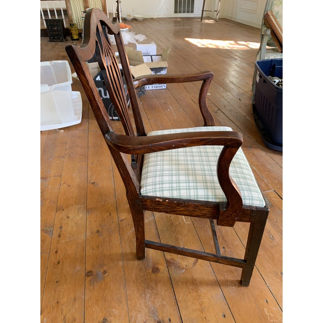Thomas Chippendale American Chippendale Faux-Grained Armchair For Sale - Image 4 of 9