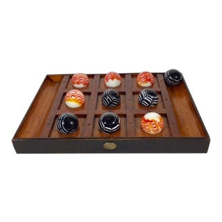 Late 20th Century Venetian Glass Tic Tac Toe Board - 11 Pieces For Sale