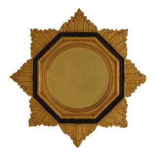 Friedman Brothers Gold & Black Star Design Mirror