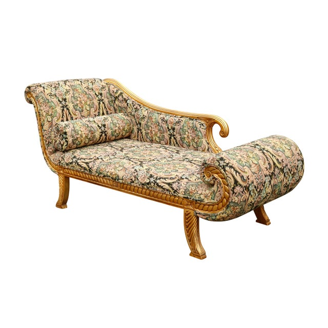 Hollywood Regency Chaise Longue For Sale - Image 10 of 10