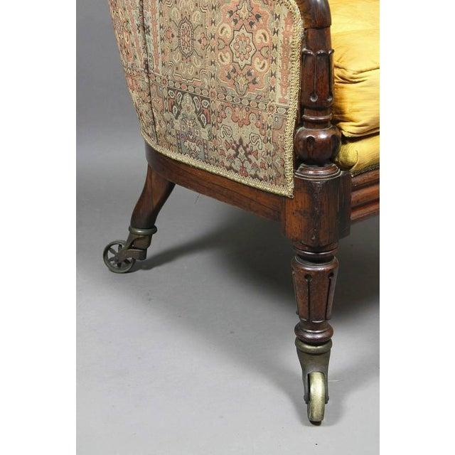 Grand William IV Rosewood Bergere Chair For Sale In Boston - Image 6 of 8