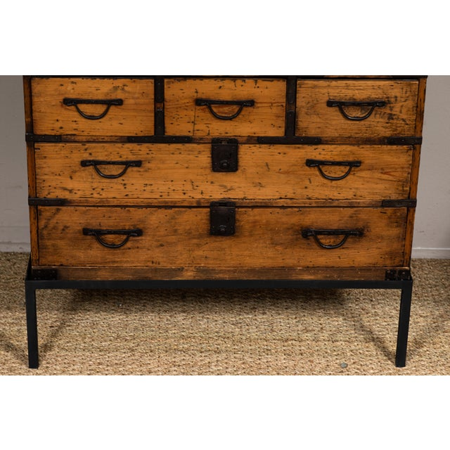 Asian Antique Japanese Tansu For Sale - Image 3 of 10