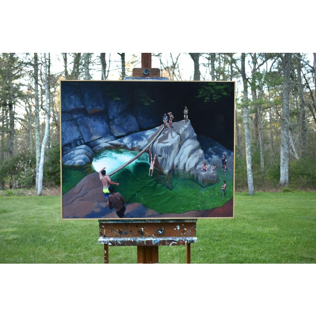Vermont Swimming Hole Contemporary Painting by Stephen Remick For Sale - Image 11 of 12
