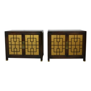 1960s Chinese Style Wooden Nightstands - a Pair For Sale