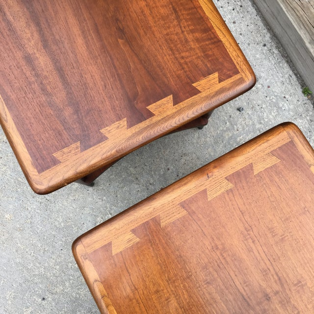 Lane Acclaim Dovetail Side Tables - A Pair - Image 4 of 6