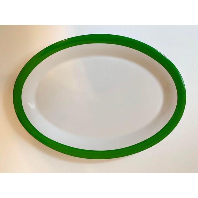 Ceramic Kate Spade Lenox Rutherford Green Serving Platter For Sale - Image 7 of 7