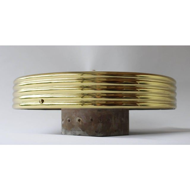 Italian Brass Ceiling Lights - a Pair For Sale In New York - Image 6 of 7