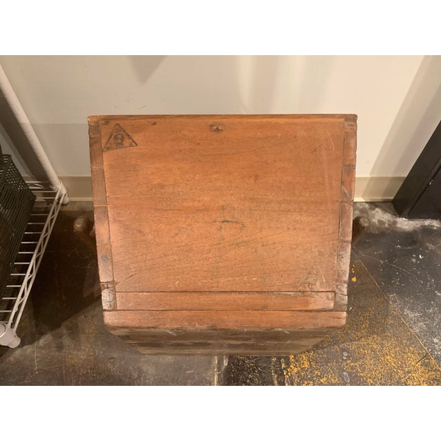 Antique Wooden Box With Handles For Sale - Image 11 of 13