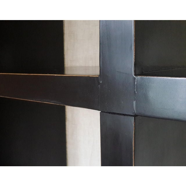 Black Asian Modern Four Hands Black Lacquered Elm Bookcase For Sale - Image 8 of 11