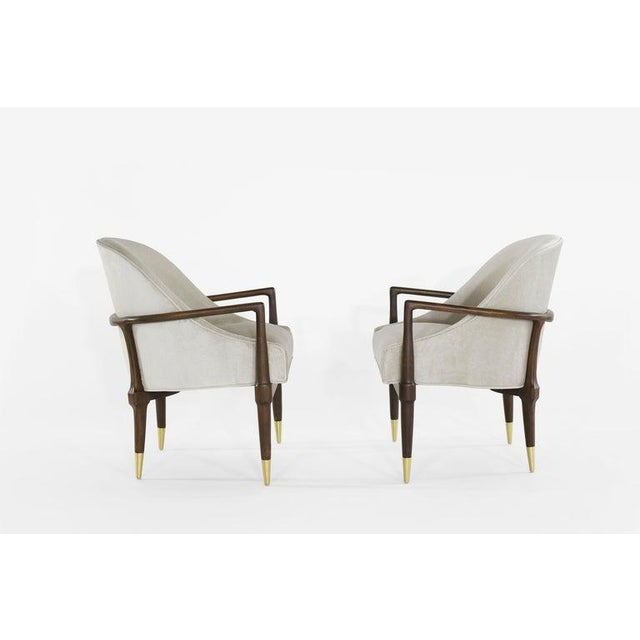 Mid-Century Modern Mid-Century Modern Walnut Lounge Chairs - a Pair For Sale - Image 3 of 13