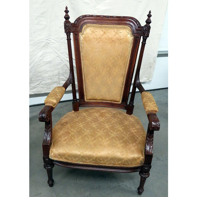 French Louis XVI Style Companion Armchairs - a Pair For Sale - Image 3 of 8