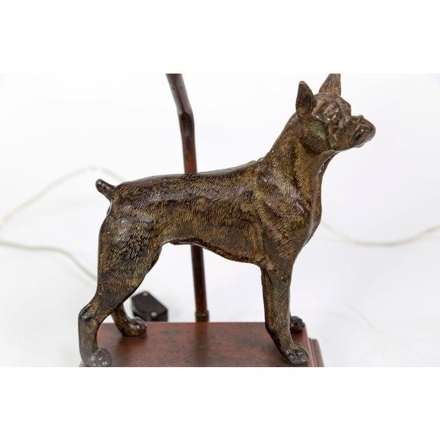 Cast Bronze Dog Sculpture Lamp For Sale In San Francisco - Image 6 of 12
