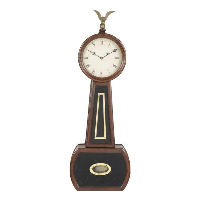 Metal 19th Century Massachusetts Banjo Clock For Sale - Image 7 of 7