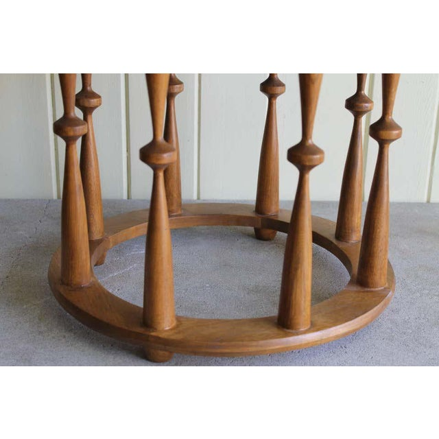 1960s Midcentury Spindle Table With Marble Top For Sale - Image 4 of 8